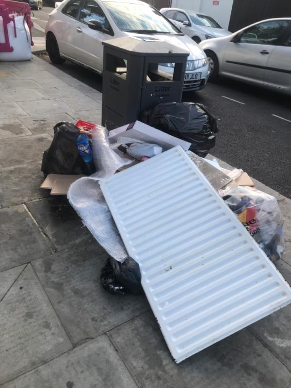 Absolutely filthy, oil spill and dumped rubbish outside pizza haven. Always looks like this👎🏽-16 Sebert Road, London, E7 0NQ
