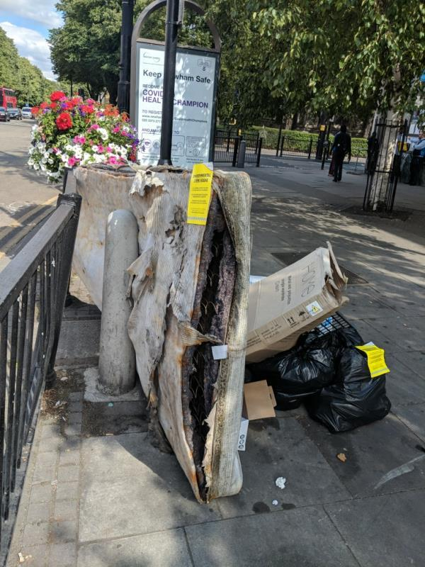 mattress food waste cardboard -Garland House, 302 Romford Road, London, E7 9HD