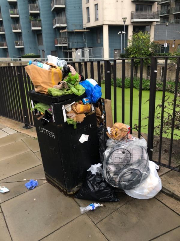 Please empty the bin. -1 Cook's Rd, London E15 2PW, UK