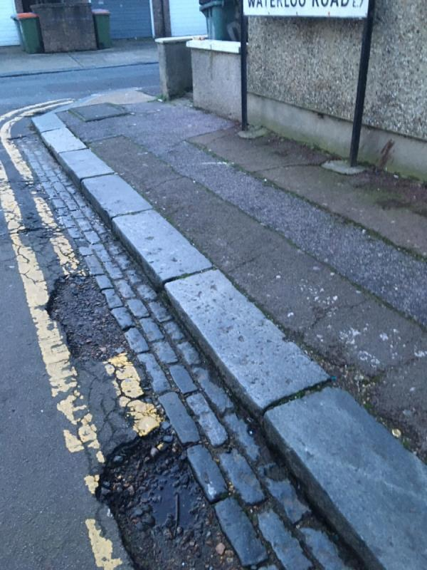 Numerous big pot holes on Waterloo road . Been continually reporting this since it flatted my car tyre in 2018, wondering why it isn't being fixed. Spraying white paint indicating a repair needed isn't sufficient. Disgrace really image 1-81 Tower Hamlets Road, London, E7 9DA