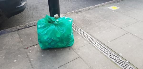 this point is moved still people keeping waste in front of the door. people being asked to keep at collection point are threatening.-33 Plashet Grove, London, E6 1AD