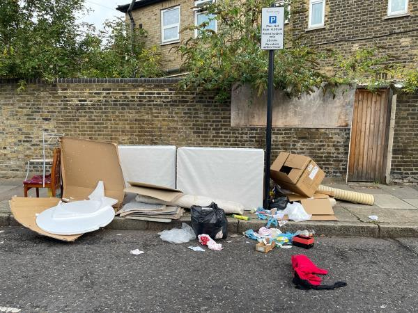As seen in pictures -52 Tunmarsh Ln, London E13 9NF, UK