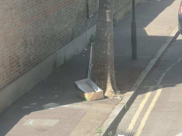 rubbish dumped-53 Frinton Road, East Ham, E6 3EZ