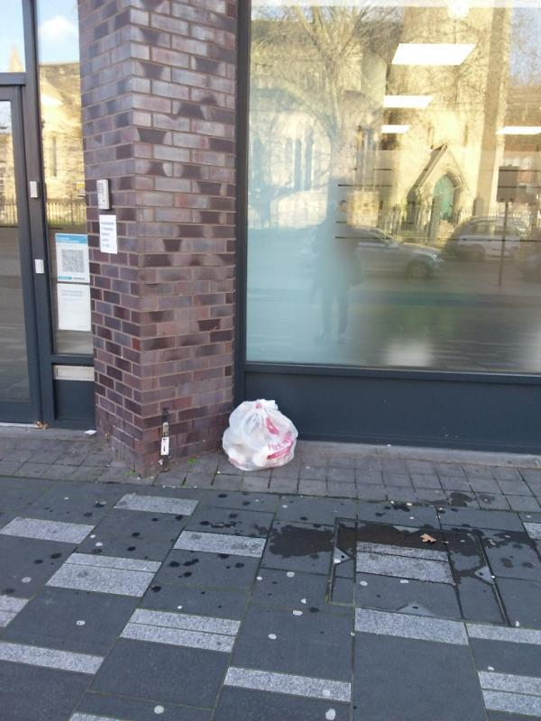 Litter and Bin Bags left at this location-55 Broadway, London, E15 4BQ