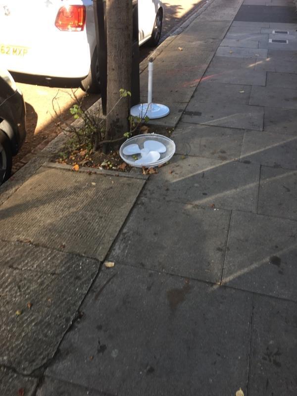 Fan dumped-13 Ferndale Road, London, E7 8JX