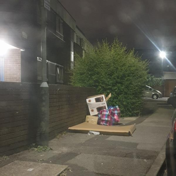 flytipping near the maisonettes-1 Ashton Road, London, E15 1JU