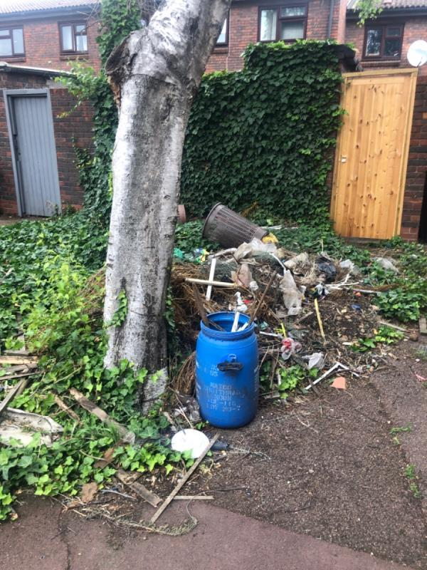 Outside number 4 but not belonging to no4   The contents of someone's garden ..... I have no words -7 Birch Close, Canning Town, E16 4QW