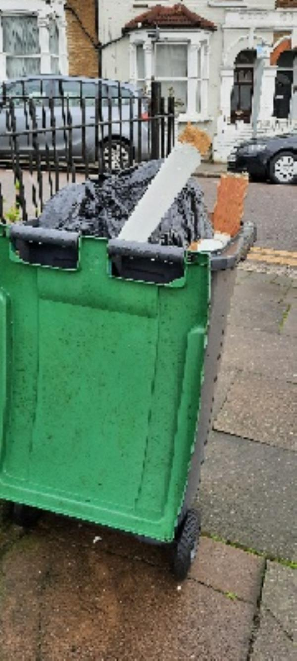dumped rubbish -Felicity Court 205-207 High Road, London, N22 8HH