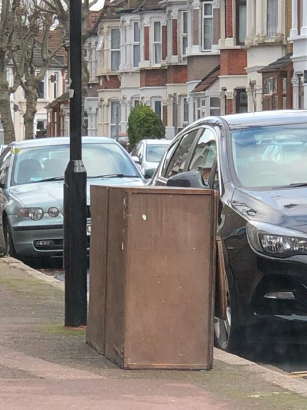 Wardrobe fly tipped-46 Essex Road, London, E12 6RE