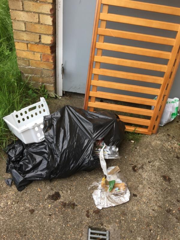More rubbish left outside from flat 33-33 Coronation Square, Reading, RG30 3QP