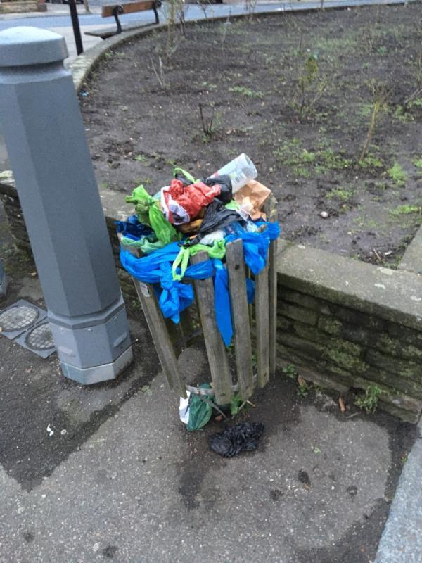 Now the 7th request to fix or replace this bin. No action so far. See pictures - it is an absolute disgrace and a health hazard.-5a Stondon Park, London, SE23 1NW
