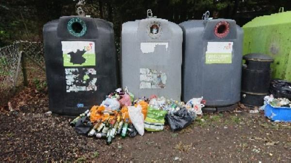 Bottle banks full needs to be emptied -46 Liebenrood Road, Reading, RG30 2EB