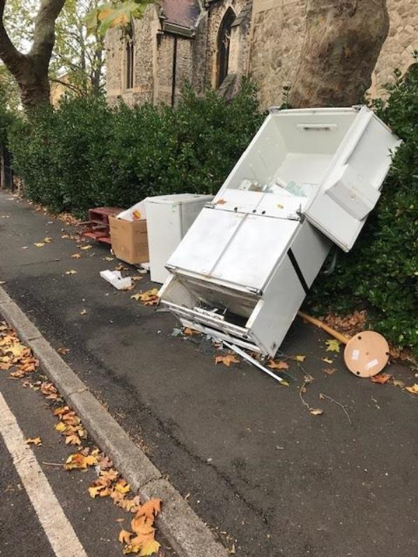 Please clear flytip-49 Cranfield Road, Honor Oak Park, SE4 1TN