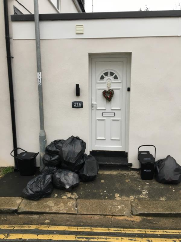 The rubbish has now spread along the street, with debris being kicked and blown down to Cholmeley Road and Regent Street. The neighbourhood is being ruined by this.-21 Cholmeley Road, Reading, RG1 3NQ