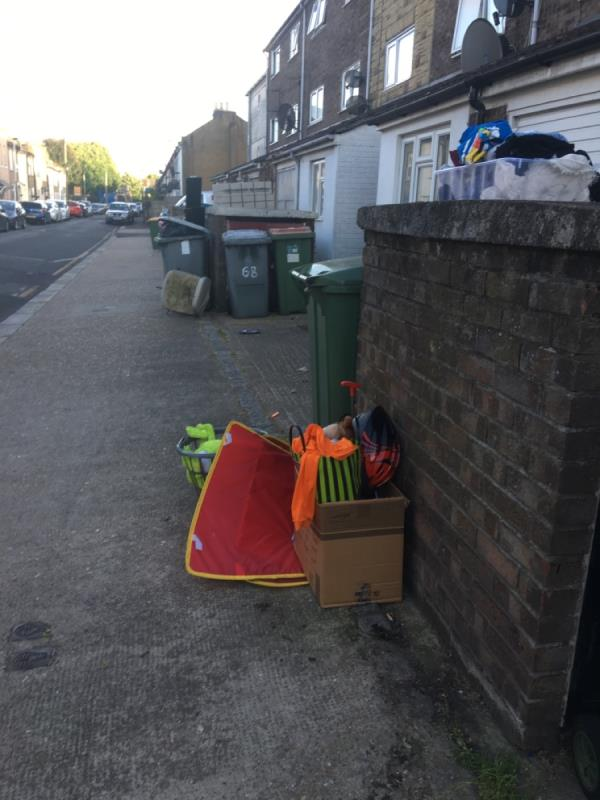 Properties thrown crap out on footpath as usual. -79 Tower Hamlets Road, London, E7 9DA