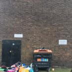 Rubbish dumped outside flats on the corner of Church Crescent and Groombridge Road at the weekend. Animals have been dragging the contents across the street. -22A Church Cres, London E9 7DH, UK