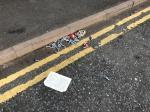Litter is everywhere on the hammerhead, canisters from people using them, this is an everyday occurrence  image 2-7 Fletton Close, Leicester, LE4 9LP
