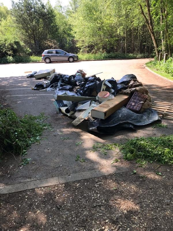 Dumped at Southwood Woods.-33a Pond Rd, Farnborough GU14 7GE, UK