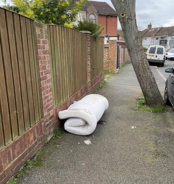 During a routine visual audit firefighters from Lee Green station noticed abandoned mattresses on the corner of Bramdean Crescent and Baring Road. -174 Baring Road, London, SE12 0PU