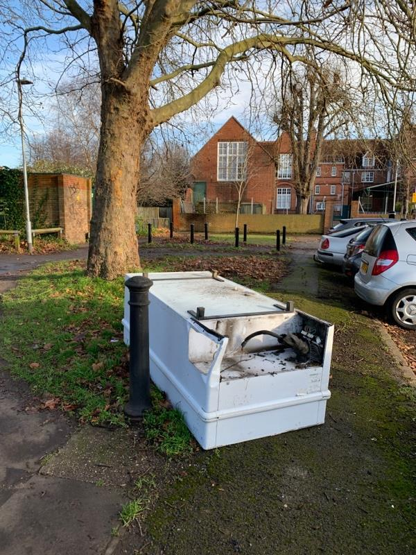 Flytipped item near the steps at Avon Place/Cumberland Road-145 Cumberland Road, Reading, RG1 3JY