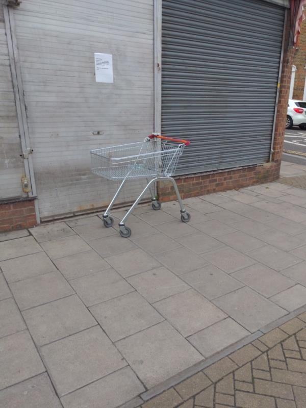 Abandoned trolley Hither Green Lane-226 Hither Green Lane, London, SE13 6RT