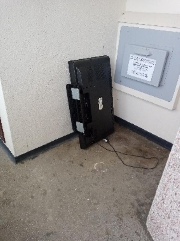 please remove TV by chute room on the 5th floor-223 Southcote Lane, Reading, RG30 3AY