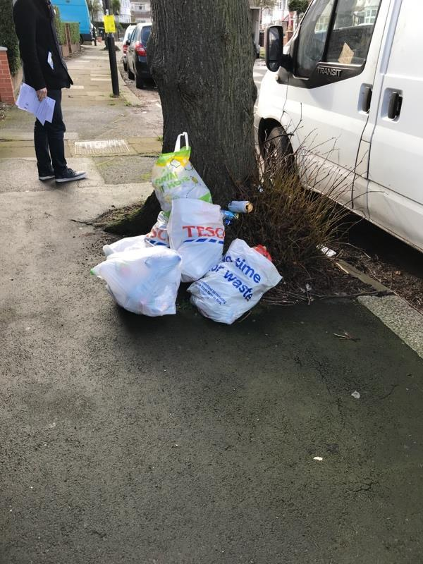 Fly tipping -58 Cleveley Crescent, London, W5 1EA