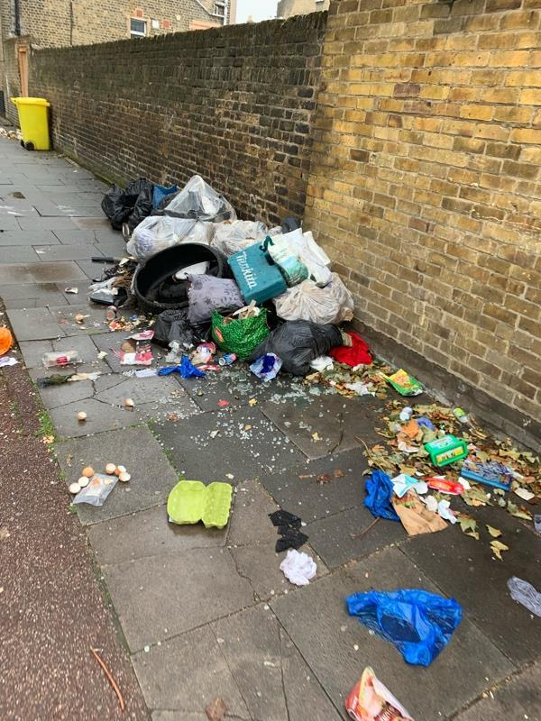 Fly tipping -2b Norwich Road, London, E7 9HL