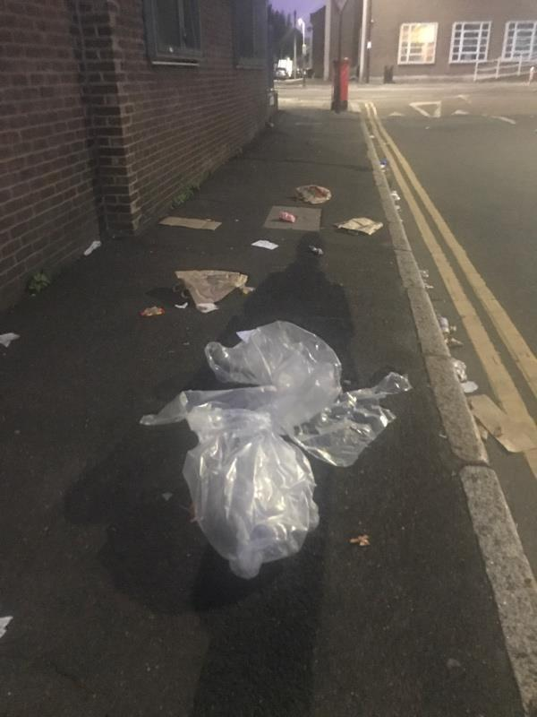 Fly tipping. Both sides of street. -115 Romford Road, London, E15 4LY