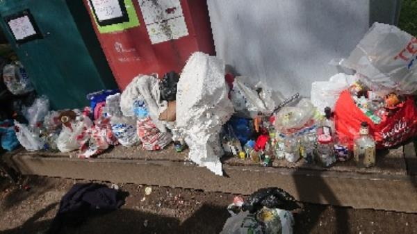 Bottle banks full needs to be emptied cleared excess bottle s -125 Cranbury Road, Reading, RG30 2TD
