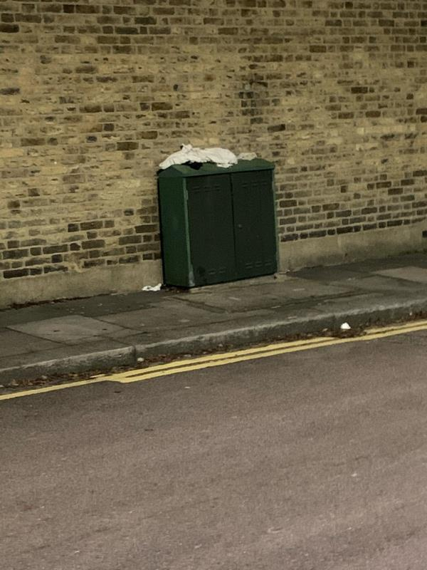 Dumped rubbish on both sides of Belton Road towards Ranelagh Road-2 Belton Road, London, N17 6YF