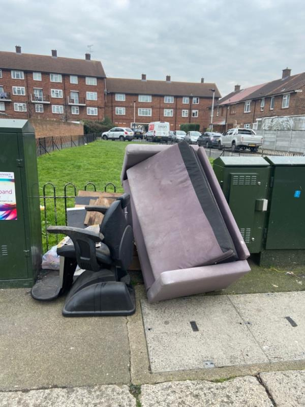 Fly tipping-109 Field Road, London, E7 0DA
