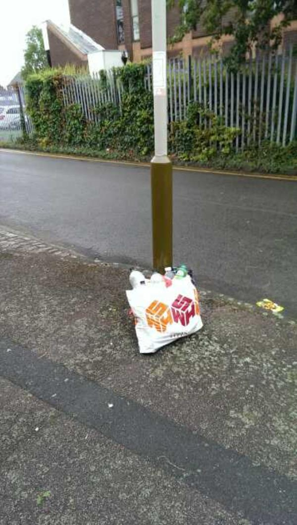 "more rubbish from rubbish louts,need a sign saying""dump your rubbish here""-12 Frewin Street, Leicester, LE5 0PA"