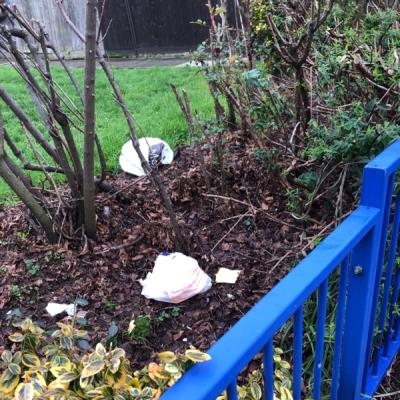 Flytipping on estate-6 Studley Close, London, E5 0TY