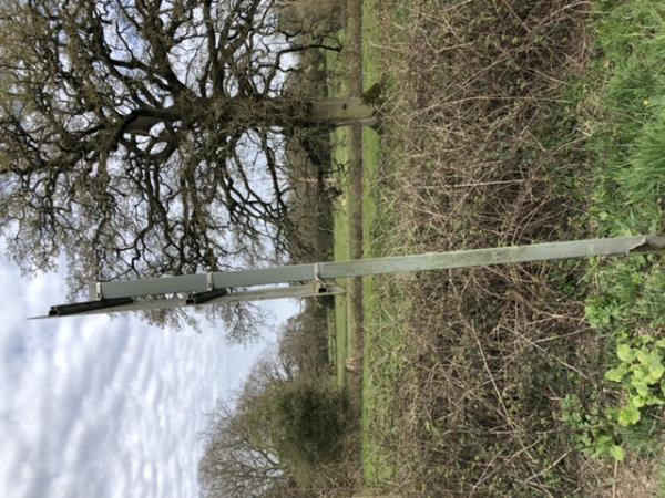Rusted leaning post on yellow warning backed junction ahead sign -3 Frederick Cottages Brighton Road, Mannings Heath, RH13 6JD