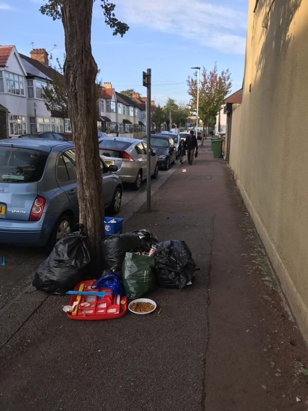 Another pile of rubbish opposite 81 Dorset - what are you doing to crack down on this regular fly tipping spot? -62 Dorset Road, London, E7 8PS