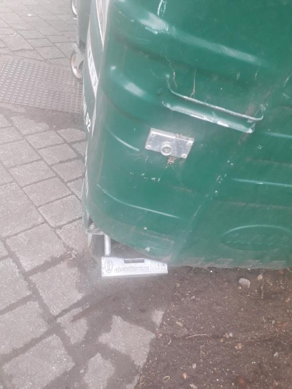 I would like to report 2  recycling bins to be  Repair in regards to the damaged brakes at wheels. outside Hatfield Close 49-96.-59 Hatfield Close, New Cross Gate, SE14 5DW