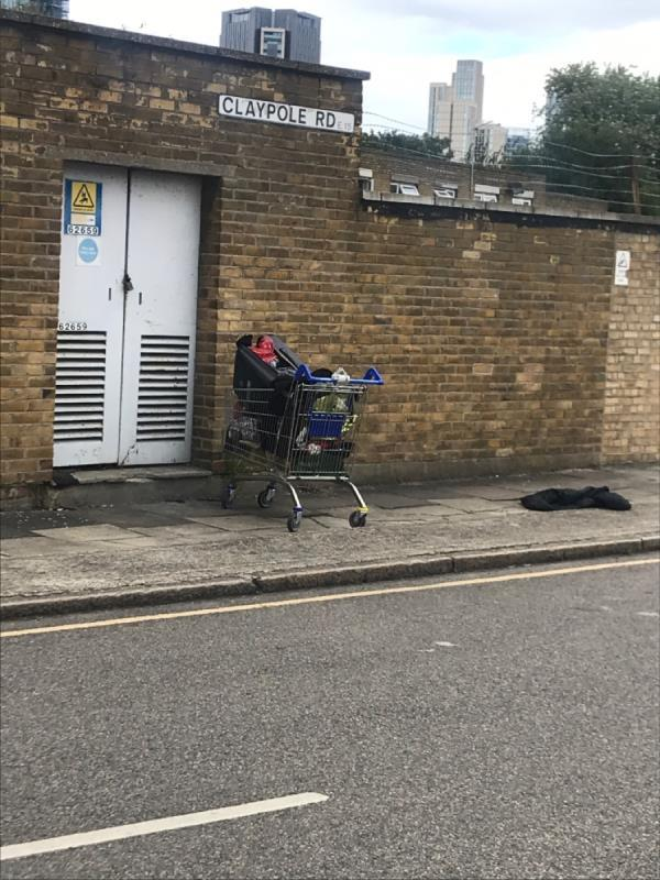 Trolly with rubbish-39b Leggatt Road, London, E15 2RH