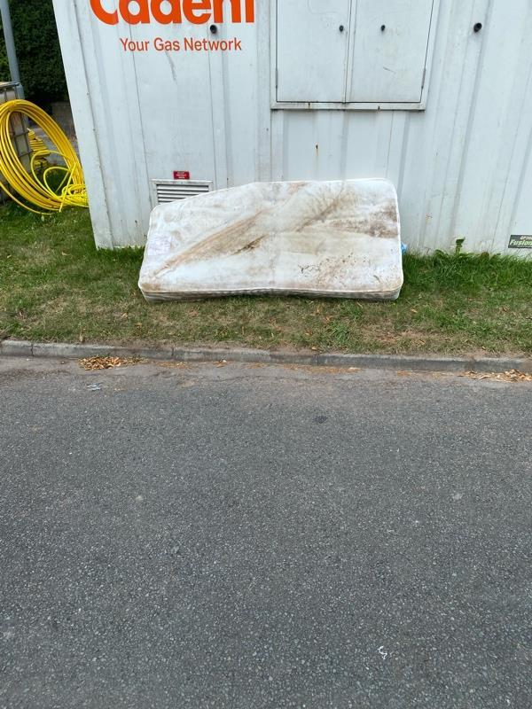 Old mattress been dumped outside 280 henwood road it is by the cadet box  in slip road -290 Henwood Road, Wolverhampton, WV6 8NZ