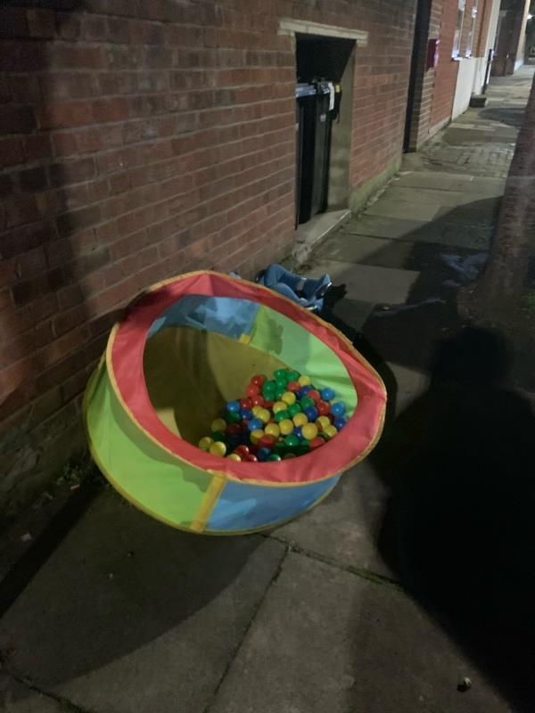 Dumped outside near number 8 Belton Road belongs to the new householders in the new block-7 Belton Road, London, N17 6YF