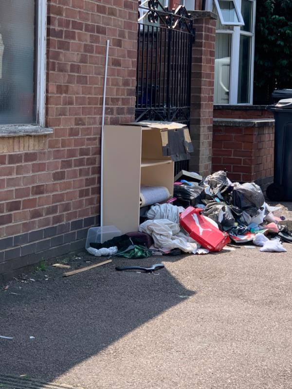 A whole load of fly tipping has been dumped on the street-2 Cranmer Street, Leicester, LE3 0RA