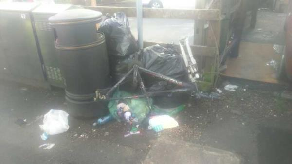 fly-tipping atm -30 Brook Street West, Reading, RG1 6HF