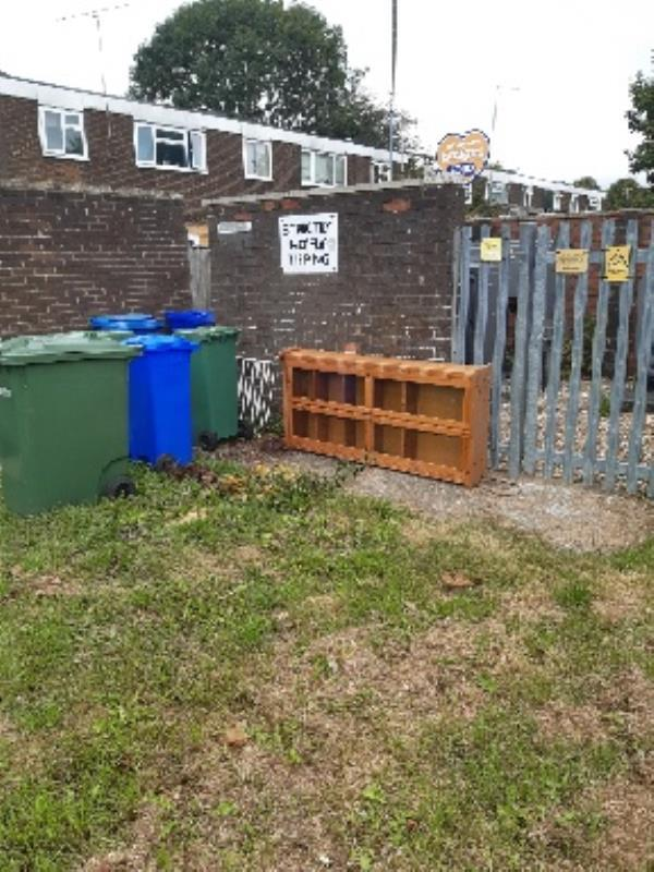 fly tipped unit and stair gate-56 Kingsley Road, Farnborough, GU14 8SX