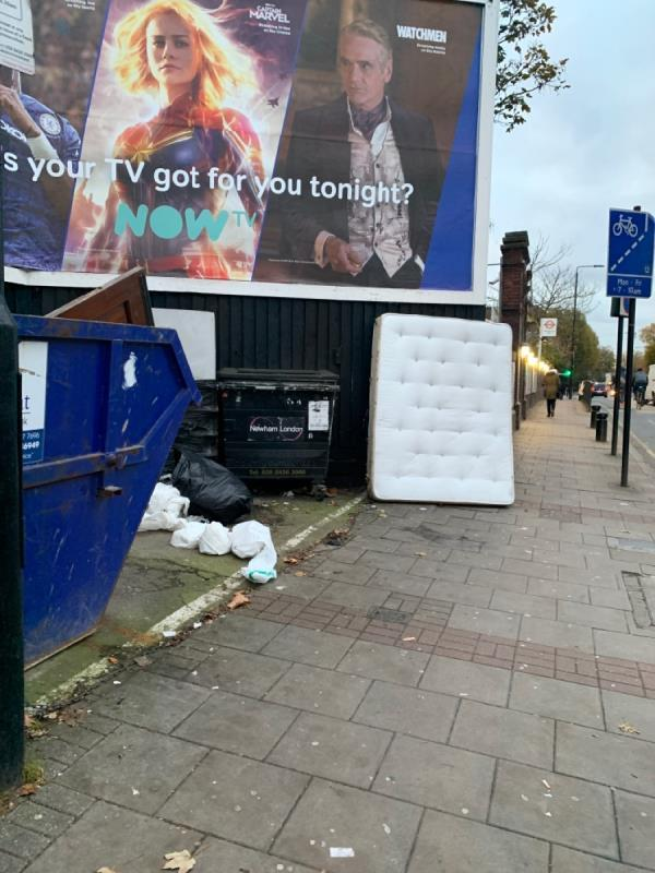 Mattress. Outside 546 Romford rd-546a Romford Road, London, E12 5AF