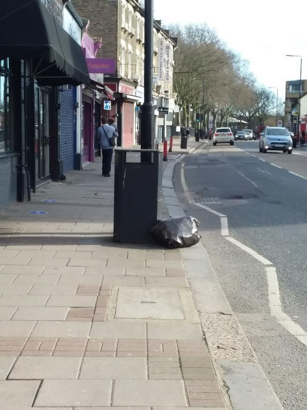 Bin Bags and Litter left at this location image 1-45A W Ham Ln, London E15 4PH, UK