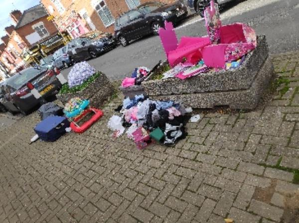 fly tipping-107 Earl Howe Street, Leicester, LE2 0DJ