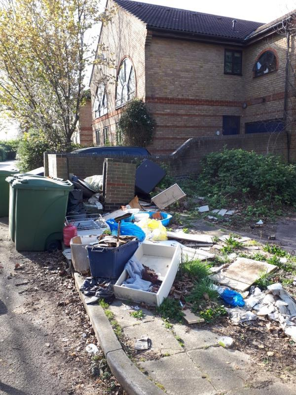Flytipping to right of property 195 Tollgate Road E6 Reported twice but not completed, please advise.-203 Tollgate Road, London, E6 5JY