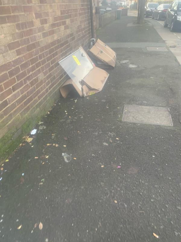 Loads of mess dumped at kelland road needs removing as soon as possible -19 Kelland Road, Plaistow, E13 8DS