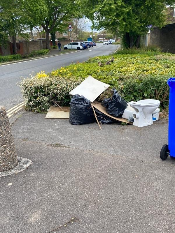 Another rubbish at the car park of Mayfield Road  By the back garden of number 27 Chaucer Road  -26 Chaucer Road, Farnborough, GU14 8SW