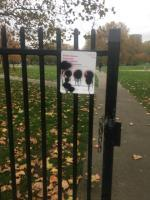 Someone painted the notice board -12 Radland Road, London, E16 1LN
